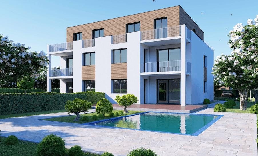 Mehrfamilienhaus mit Pool